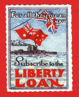 """AUSTRALIA- 1917 -  LIBERTY LOAN LABEL          """" For all they mean to you"""" - MNH"""