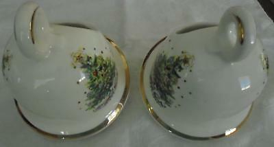 2 Salem China Christmas Eve Small Bell Shaped Centerpieces Decorative Pieces VGC