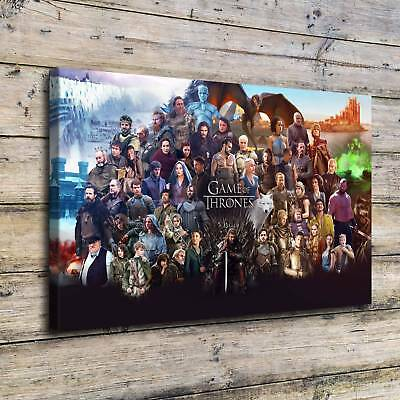"12""x18"" Game of Thrones HD Canvas prints Paints Home decor Room Wall art Picture"