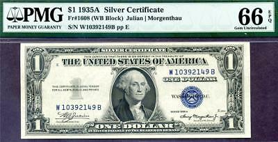 HGR FRIDAY 1935A $1 Silver Certificate ((WANTED Grade)) PMG GEM UNC 66EPQ