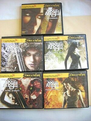 Alex Archer--ROGUE ANGEL Lot of 5 Audiobooks CDs Graphic Audio #11 12 13 14 15
