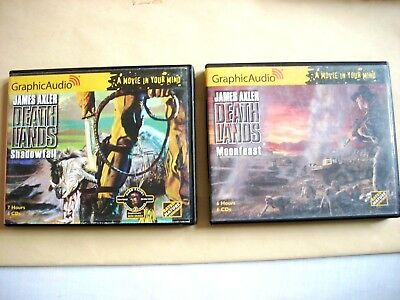 James Axler--DEATHLANDS Lot of 2 Graphic Audio CD SHADOWFALL MOONFEAST 26 95