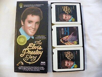 8 Track Tapes. The ELVIS PRESLEY Story on (3) 8 Track Tapes.
