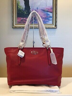 e81517b1a129 NEW COACH 1941 Rogue 25 Tea Rose Floral Leather Washed Red Black ...