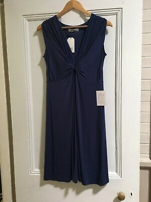 Bnwt Size Small Size 10 Angel Maternity Navy Dress