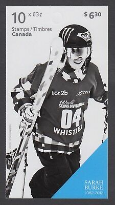 CANADA BOOKLET BK574 10 x 63c PIONEERS OF WINTER SPORTS - SARAH BURKE