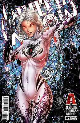 """White Widow #1 2nd Print Variant Pre-Order !! COVER """"B"""" Tyndall Silver WOW! 9.8"""