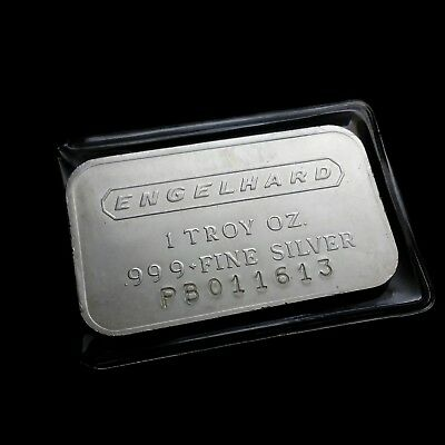 Rare Variety Engelhard PB Series 1 Troy oz .999 Fine Silver Bar 011613  Jan 16th