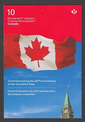 CANADA BOOKLET BK613 10 x 90c THE 50th ANNIVERSARY OF THE CANADIAN FLAG