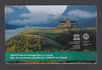 CANADA BOOKLET BK624 6 x $2.50 UNESCO WORLD HERITAGE SITES IN CANADA