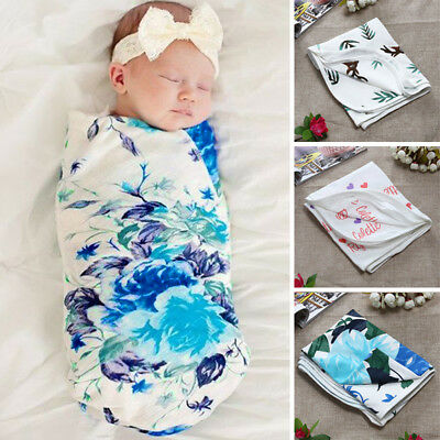 Cotton Soft Toddler Baby Infant Swaddle Wrap Blanket Sleeping Bag For 0-6 Months
