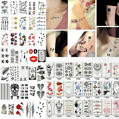 Removable Temporary Fake Tattoo Sticker Waterproof Summer Beach Small Body Art