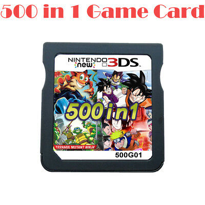 NEW 500 In 1 Cartridge Video Game Card For Nintendo NDS NDSL 2DS 3DS NDSI