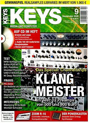 Channelstrips in Test 12 Bus - Keys DVD with Loops Samples Workshops and Test