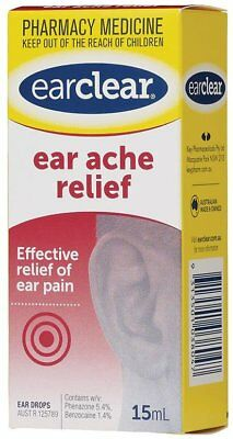 SHORT DATED 01/2019 - Ear Clear drops for Ear Ache Relief 15ml