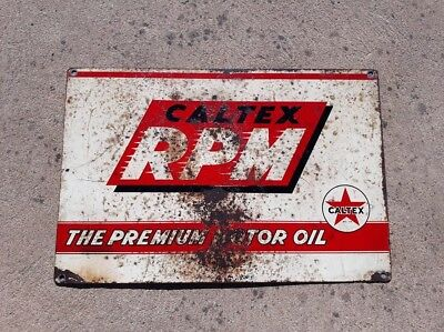 Original Caltex Rpm Motor Oil Sign