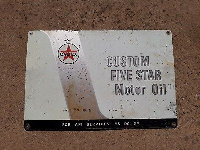 Original Caltex Five Star Motor Oil Sign