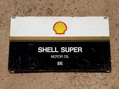 Original Shell Super Motor Oil Sign