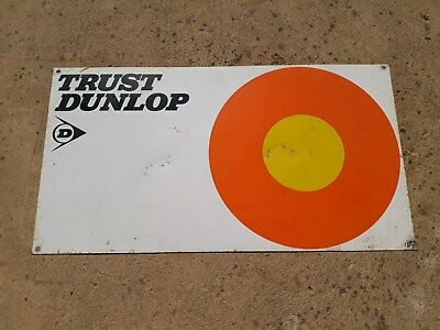 Original Dunlop Tyres Advertising Sign - Double Sided