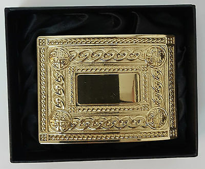 Clearance offer Gilt Effect 4 dome Kilt Belt Buckle Gift boxed half price