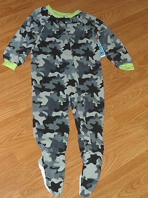 a287a198757b CARTERS BABY BOY Footed Fleece Pajama Sleepers Size 12 Months ...