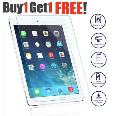 "Genuine Tempered Glass Screen Protector For Apple iPad 9.7"" 2018 BUY1 GET1 FREE"