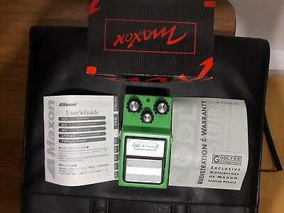 Maxon OD-9 Overdrive Guitar Effects Pedal, Modified by Analogman.JRC4558D Chip