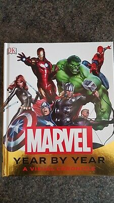 DK Marvel Year By Year Book A Visual Chronicle. As New.