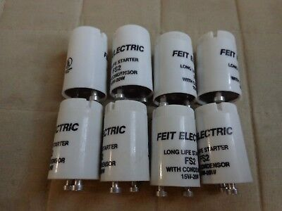 15W-20w Starter W/Condenser No FS2/10  Feit Electric Part Box of 8 Free Ship
