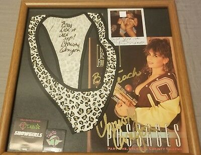CHRISTY CANYON Signed Worn Panties + 2 Autographed Pictures + Proof