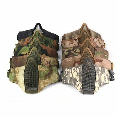 Half Face Mask Outdoor Field CS Army Games Eye Shield Mask Mesh Airsoft Mask VE