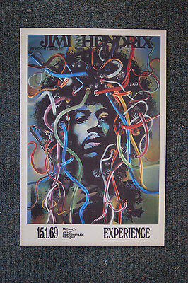 Jimi Hendrix Tour Poster 1969 West Germany