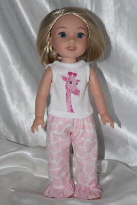 Dress Outfit fits 14inch American Girl Wellie Wishers Doll Clothes Pink