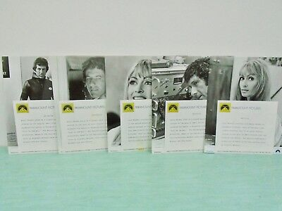 "5 Lobby Cards Paramount Pictures ""Fear is the Key"" Barry Newman Suzy Kendall B&W"