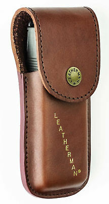 TUFF LUV Engraved Leather Heritage Case for Leatherman Supertool/Surge/Signal-Br