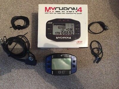 Mychron 4 Go Kart Laptimer With 2x Temp, Rev and Magnetic Strip Sensor, boxed