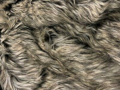 Super Luxury Faux Fur Fabric Material - SIBERIAN GREY WOLF