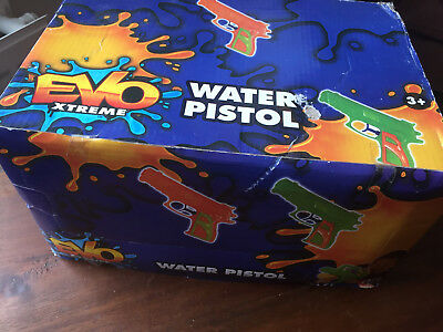 Job lot 24 pieces Water Pistols childrens toy waterguns Evo Extreme NEW & SEALED
