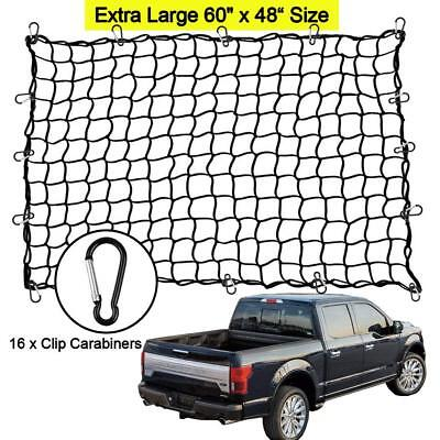 "Truck SUV Car 48"" x 60""Elastic Bungee Cargo Net Metal Hooks Tie Down Pick Up Bed"