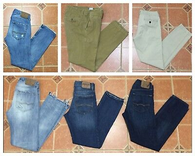 Assorted Lot Of 34 Abercrombie Fitch Jeans Cargo Shorts T-Shirts Thermal Shirt