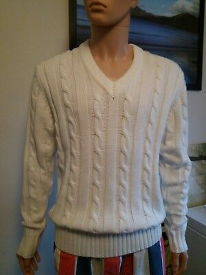 Gents Cricket Jumper By GM Size L (New) Cream Colour 42 Inch chest