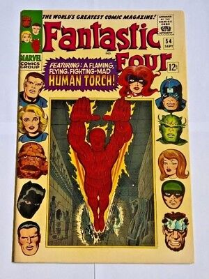 Fantastic Four #54 Very Fine+ (8.5)  Great Condition