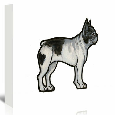 East Urban Home French Bulldog Painting Print on Wrapped Canvas