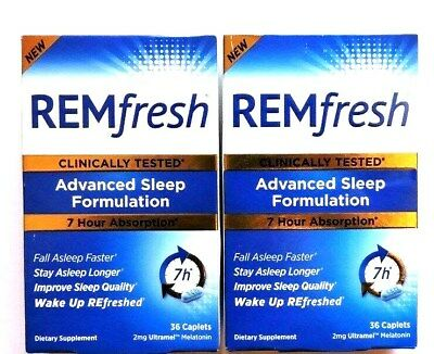 "REMfresh Advanced Sleep Formulation ""Wake Up Refreshed"" 2x36caps exp. 12/2018"