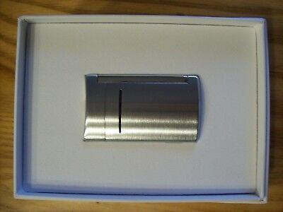 S. T. Dupont Minijet Brushed Lighter - Silver - New in Box