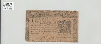 $5 1776 Colonial Currency New York