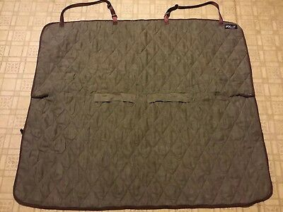 SOLVIT Deluxe Pet Dog SUV Car Backseat Bench Cover Quilted Microsuede #62283 EUC