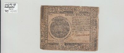 $7 1775 Colonial Currency Continental