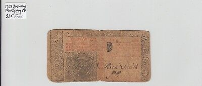30 Shillings 1763 Colonial Currency New Jersey