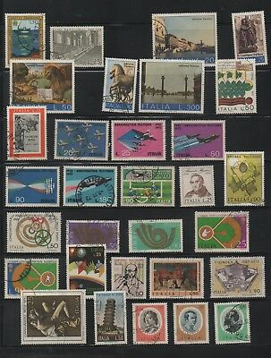 Italy, lot of 83 used stamps 1973-74